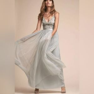 BHLDN Avery Fog Womens Dress